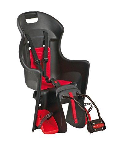 Polisport Kinder Kindersitze/fahrradsitz Boodie, Schwarz/Rot, S