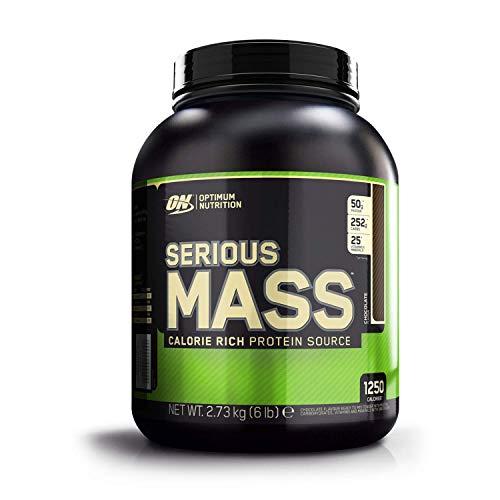 Optimum Nutrition ON Serious Mass Hochkalorisches Weight Gainer Protein Pulver mit Kohlenhydrate, Whey Protein, Vitaminen, Kreatin und Glutamin, Chocolate, 8 Portionen, 2.73kg