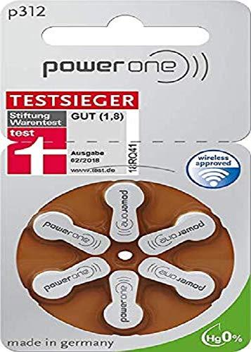 Power One Zinc p312 Hörgeräteakku,60 er pack