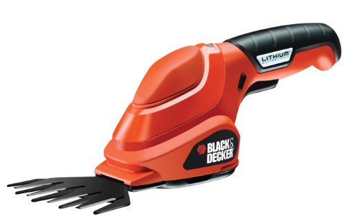Black+Decker Akku-Grasschere (3,6V Li-Ion ergonomisches Design, Akku-Laufzeit ca. 45 min, Einschaltsperre, inkl. Ladestation und Ladekabel LED-Ladeanzeige) GSL200