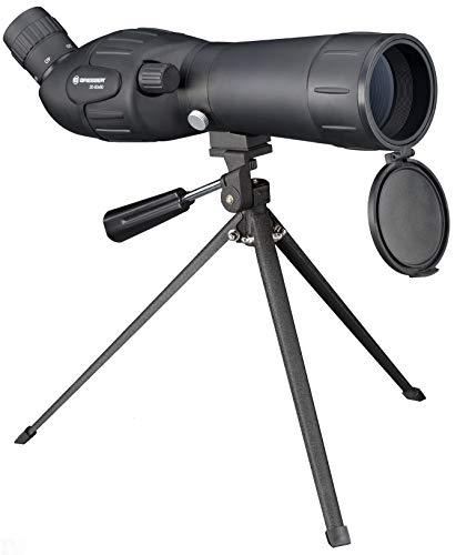Bresser junior Spektiv Spotty 20-60x60 mit stufenloser Zoomfunktion, 360° drehbarem Tubus, vollvergütet mit robuster Gummiarmierung inklusive Tischstativ, Transporttasche und Trageriemen