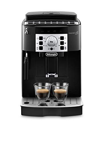 De'Longhi Magnifica S ECAM 22.110.B - Kaffeevollautomat mit Milchaufschäumdüse, Direktwahltasten & Drehregler, 2-Tassen-Funktion, großer 1,8 l Wassertank, 35,1 x 23,8 x 43 cm, schwarz-silber
