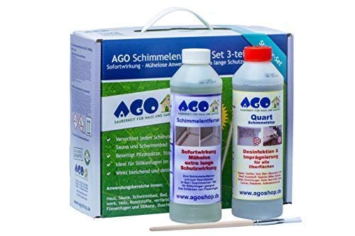 AGO® Schimmelentferner & Schimmelstop Set I Anti Schimmel Imprägnierung & Schimmel Blocker je 500ml