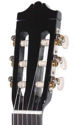 Yamaha C40BLII Akustikgitarre schwarz - Hochwertige Akustikgitarre für Einsteiger in edlem Design - 4/4 Gitarre aus Holz