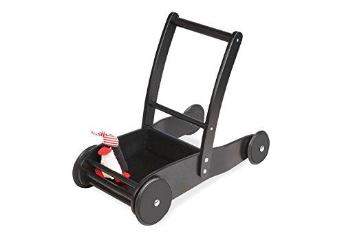 Pinolino Lauflernwagen Pirat James, aus Holz, mit Bremssystem und gummierten Holzrädern, inkl. Sticker-Bogen, für Kinder ab 1 Jahr, schwarz