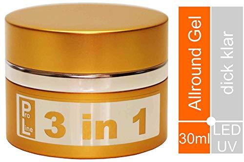 "World of Nails-Design ProLine UV-Gel, Nagelgel klar""3 in 1"" dick viskose 30ml"
