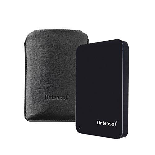 Intenso Memory Drive 1TB externe Festplatte inkl. Tasche (6,4 cm (2,5 Zoll), 5400rpm, 8MB Cache, USB 3.0) schwarz