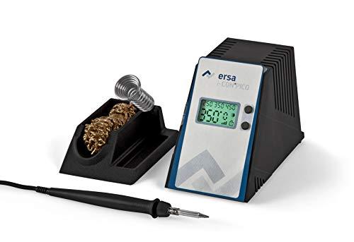 ERSA i-CON PICO digital regelbare Lötstation 80 Watt im Set inkl. Zubehör wie stabile Lötkolbenhalterung, Lötkolben i-Tool Pico   Löttemperatur regelbar 150 bis 450 °C   Auto-Standby
