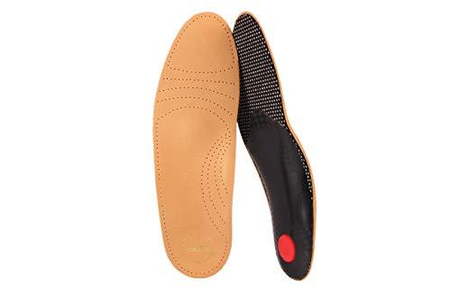 biped Premium Fußbett aus pflanzlich gegerbtem Leder - mit Pelotte - Mittelfußstütze - Fersenpolster und Aktivkohle z1706 (42)