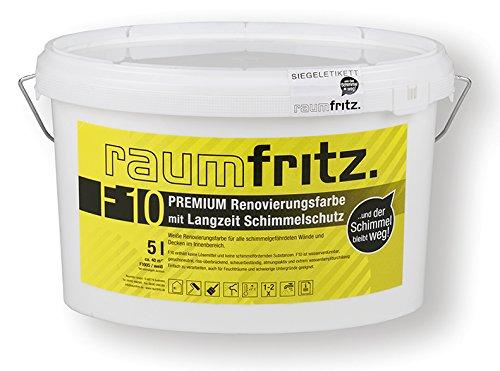 Raumfritz F10 PREMIUM SCHIMMELSCHUTZFARBE 5 Ltr. mit LANGZEIT SCHIMMELSCHUTZ