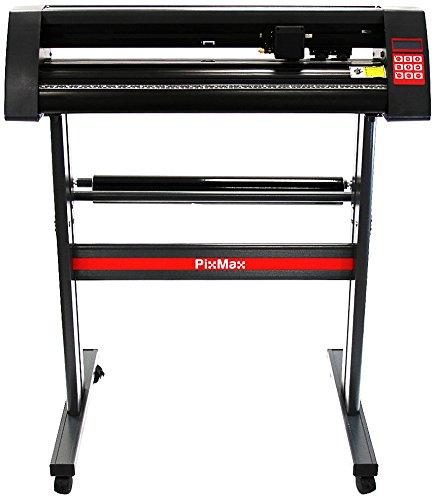 PixMax 720mm Vinyl Schneideplotter Folienplotter Plottermaschine Folienschneider Folienplotter Plotter mit SignCut Software Gratis 3 x Roland-Messer
