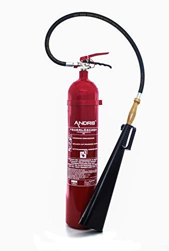 Feuerlöscher 5kg CO² Kohlendioxid EDV geeignet EN 3 + ANDRIS® Prüfnachweis mit Jahresmarke inkl. ISO-Symbolschild