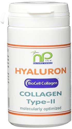 NP-Vital - Biocell Collagen® oder Collagen Express Kapseln (mit Collagen-II, Hyaluronsäure, Vitamin-C und Mangan) 1000mg Collagen/Tag für Haut, Haare, Gelenke (2x60 Biocell Collagen® Kapseln)