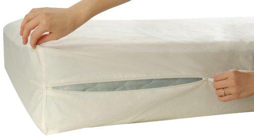 Allersoft Bettwanzen-, Staubmilben- & Allergiekontroll-Matratzenschutzumhüllung aus 100 Prozent Baumwolle, 90 x 200 x 20 cm