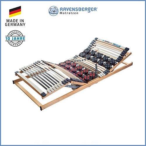 Ravensberger Matratzen DUOMED Lattenrahmen in verschiedenen Größen (90 x 200 cm, Buche Kabel-Fernbedienung)