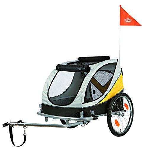 Trixie 12807 Fahrrad-Anhänger, 78 × 78 × 86 cm (L), grau/schwarz/gelb