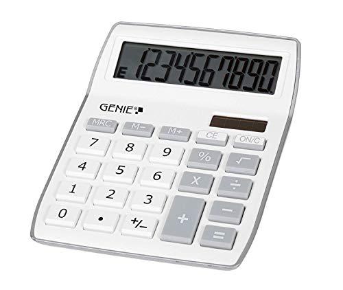 Genie 840 S 10-stelliger Tischrechner (Dual-Power (Solar und Batterie), kompaktes Design) silber