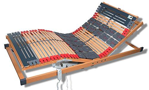 FMP Matratzenmanufaktur 7 Zonen Teller Lattenrost Rhodos EL Komfort - Kopf- und Fußteil elektrisch verstellbar 2 Tellerzonen Lattenroste 100x200 cm