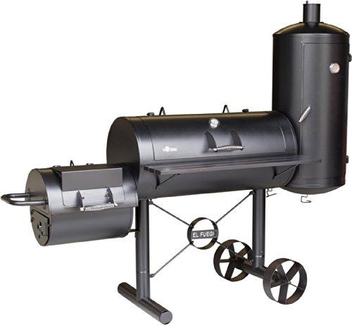 "Smoker-Grill \""Kiona\"" von El Fuego® Holzkohlegrill BBQ Barbecue Grill Smoker (000312)"