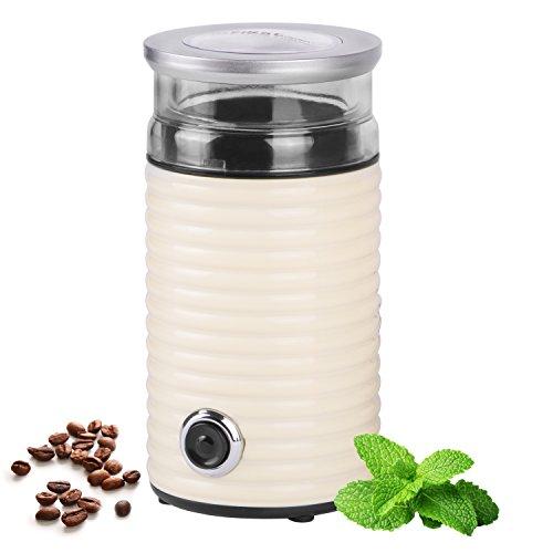 TZS First Austria - 65g Retro-Kaffeemühle   160 Watt   fein bis grob   Espresso geeignet   Elektrische Kaffeemühle für Kaffeebohnen   Zerkleinerer für Walnüsse oder getrocknete Kräuter