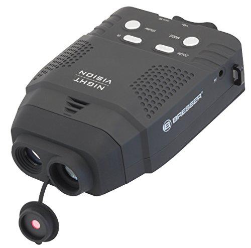 Bresser digitales Nachtsichtgerät 3x14 mm mit Aufnahmefunktion, zuschaltbarer Infrarot-Beleuchtung mit 100 m Reichweite, MicroSD-Kartenspeicherplatz und Nylontransporttasche