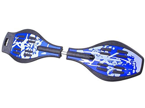 ISO TRADE Waveboard Leuchtrollen Belastbar bis 80kg Farbauswahl 7,5cm Rollen 360° Stabil 844, Farbe:Blau