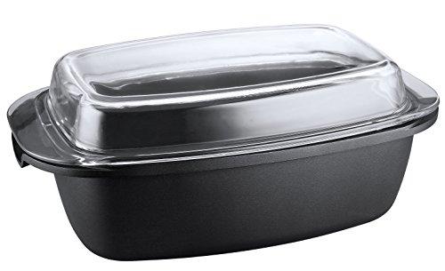 Kopf Bräter Pic (Aluguss, 5,2 Liter, inkl. Glasdeckel / Auflaufform, Induktion) schwarz