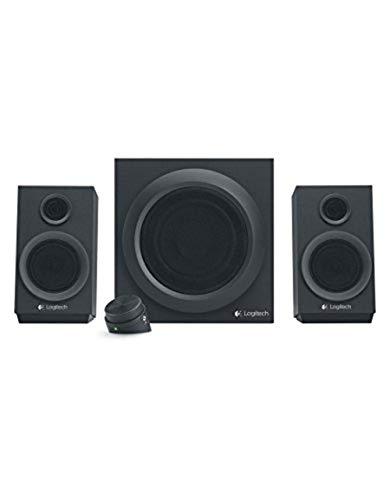Logitech Z333 2.1 Lautsprecher-System mit Subwoofer, Satter Bass, 80 Watt Spitzenleistung, 3.5mm & Cinch-Eingänge, Multi Device, Steuergerät, PC/PS4/Xbox/TV/Smartphone/Tablet - schwarz