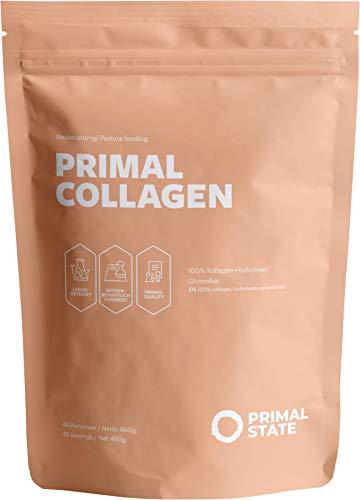 Primal Collagen Pulver - Kollagen Hydrolysat Peptide Typ 1, 2 und 3 - Aus Weidehaltung - 460g Primal Kollagen Pulver