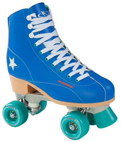 Hudora Disco Rollerskates Unisex Rollschuh, Blau/Grün, 36, 13192
