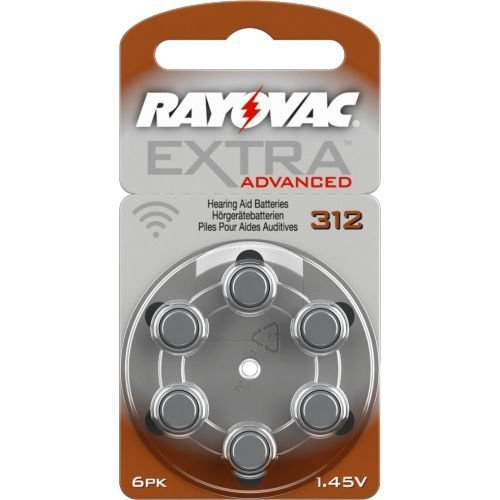 120 Rayovac Extra Advanced Nr 312 Hörgerätebatterie Zinc Air (P312 PR41 ZL3)