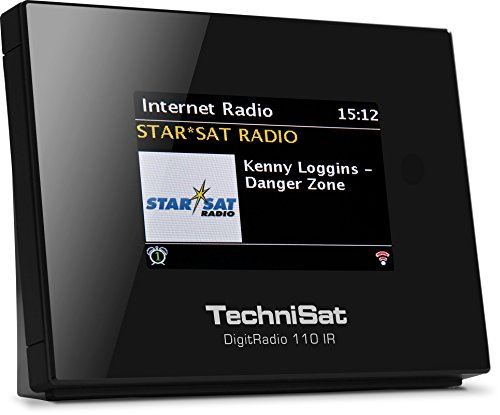 TechniSat DIGITRADIO 110 IR - Internetradio und DAB+ Digitalradio Adapter (WLAN, Spotify Connect, Bluetooth, Farbdisplay, Wecker, optimal zur Aufrüstung bestehender HiFi-Anlagen), schwarz