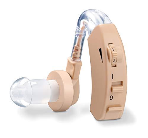 Beurer HA 20 Hörhilfe mit ergonomischer Passform hinter dem Ohr, individuelle Anpassung an den Gehörgang, Lautstärke stufenlos regelbar