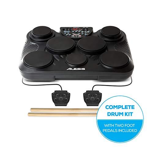Alesis CompactKit 7 - elektronisches Schlagzeug mit 7 Drum Pads, Drumsticks, 2 Pedalen und 265 Drum Sounds