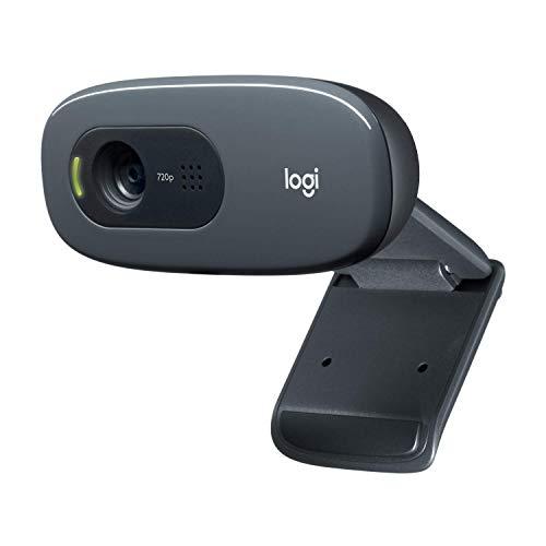 Logitech C270 HD - Webcam für Videokonferenzen mit Breitbild, Mikrofon-Rauschunterdrückung und automatischer Lichtkorrektur, Schwarz