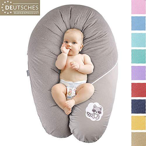 Ökotex XXL Stillkissen Schwangerschaftskissen Lagerungskissen Seitenschläfer-Kissen   Extra leise Füllung   Bezug 100% Baumwolle   Made in Europa von Sei Design