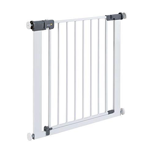 Safety 1st Quick Close ST Treppenschutzgitter extra sicheres Metall-Türschutzgitter zum Klemmen, ohne Bohren, 73 - 80 cm, bis max. 136 cm verlängerbar (ab ca. 6 - 24 Monate), weiß