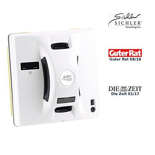 Sichler Haushaltsgeräte Haushaltshelfer: Intelligenter Profi-Fensterputz-Roboter PR-041 V3 mit Fernbedienung (Fensterreinigungs-Roboter)