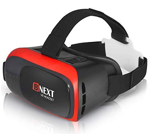 VR-Brillen, Virtual-Reality-Brille Kompatibel mit iPhone & Android [3D Brille] - Spielen Sie die besten Handyspiele, 3D & 360 Filme ab mit weicher Neuer Brille Plus speziell einstellbarem Augenpflege
