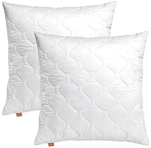 sleepling 2er Set 191122 Komfort 100 Kopfkissen Mikrofaser 80 x 80 cm, weiß