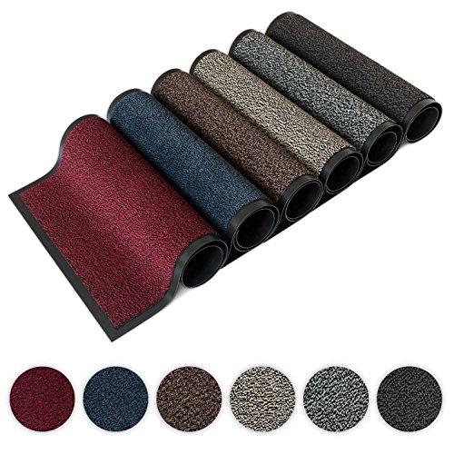 Kettelservice-Metzker® Schmutzfangmatte | Sauberlaufmatte | versch.Farben & Größen | incl.Fleckentferner | grau-schwarz meliert 60 x 90 cm