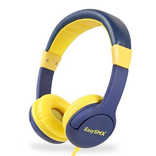 EasySMX Leicht-Kopfhörer, Kinderkopfhörer mit Laustärkebegrenzung, verstellbare Headset für iPod iPad iPhone(3.5mm) Handy Tablet PC MP3 MP4