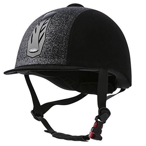 CHOPLIN Unisex 911505203 Aero Lame, Verstellbarer Helm, glänzend, Schwarz, Größe 56-58