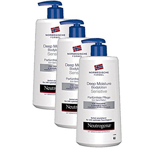 Neutrogena Norwegische Formel Bodylotion Sensitive, 3 x 400 ml