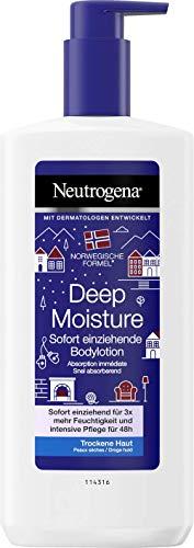 Neutrogena Norwegische Formel Deep Moisture Sofort einziehende Bodylotion, 3 x 400 ml