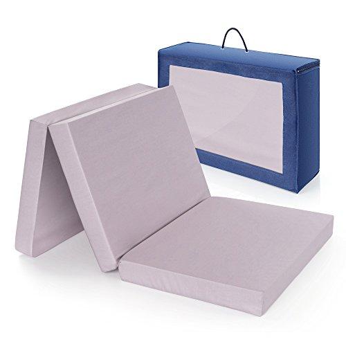 Alvi Reisebettmatratze Komfort 60x120 cm/Höhe 6 cm - Matratze für Baby Reisebett mit Baumwollbezug und Tasche, atmungsaktiv, waschbar, schadstoffgeprüft