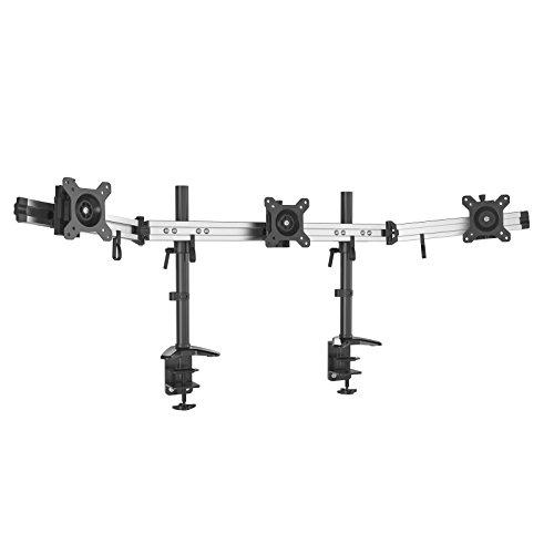 HFTEK 3-Fach Monitorarm - Tischhalterung für 3 Bildschirme von 15 - 27 Zoll mit VESA 75 / 100 (MP230C-N)