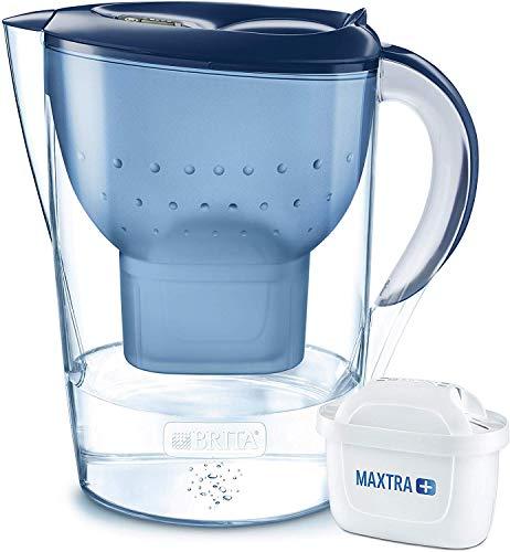 BRITA Wasserfilter Marella XL blau inkl. 1 MAXTRA+ Filterkartusche - Großer BRITA Filter zur Reduzierung von Kalk, Chlor & geschmacksstörenden Stoffen im Wasser