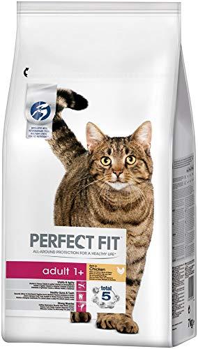 Perfect Fit Adult 1+ - Trockenfutter für erwachsene Katzen ab 1 Jahr - Reich an Huhn - Unterstützt die Vitalität - 7 kg