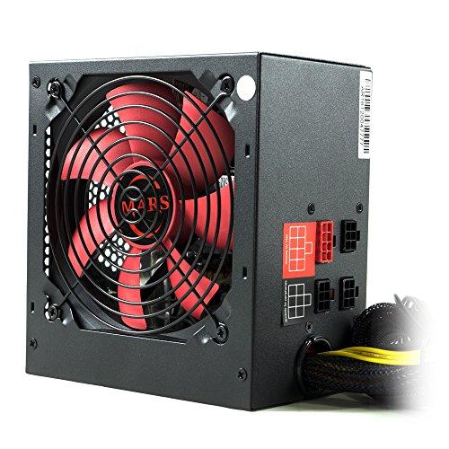 Mars Gaming  MPII850 - Netzteil gaming für PC (850W, ATX, die für die Spieler, Antivibrationssystem , aktive PFC, 12 V), rot und schwarz